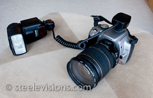 Rebel with Canon OC-E3 Off Camera Shoe Cord