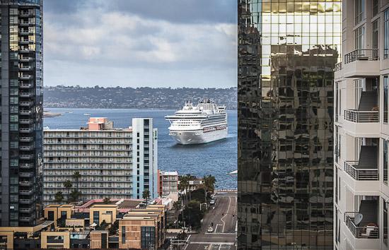 Cruise Ship in San Diego Bay