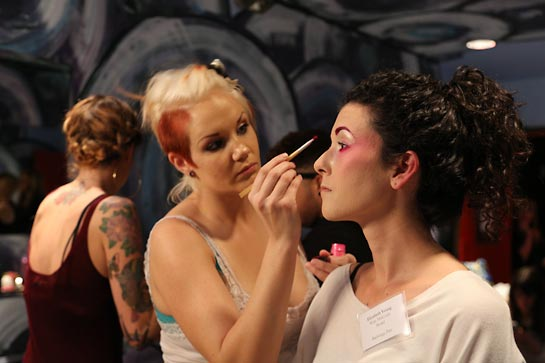 Hair and Makeup at IIDA Fashion Show