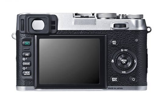 Fujifilm X100S Back View